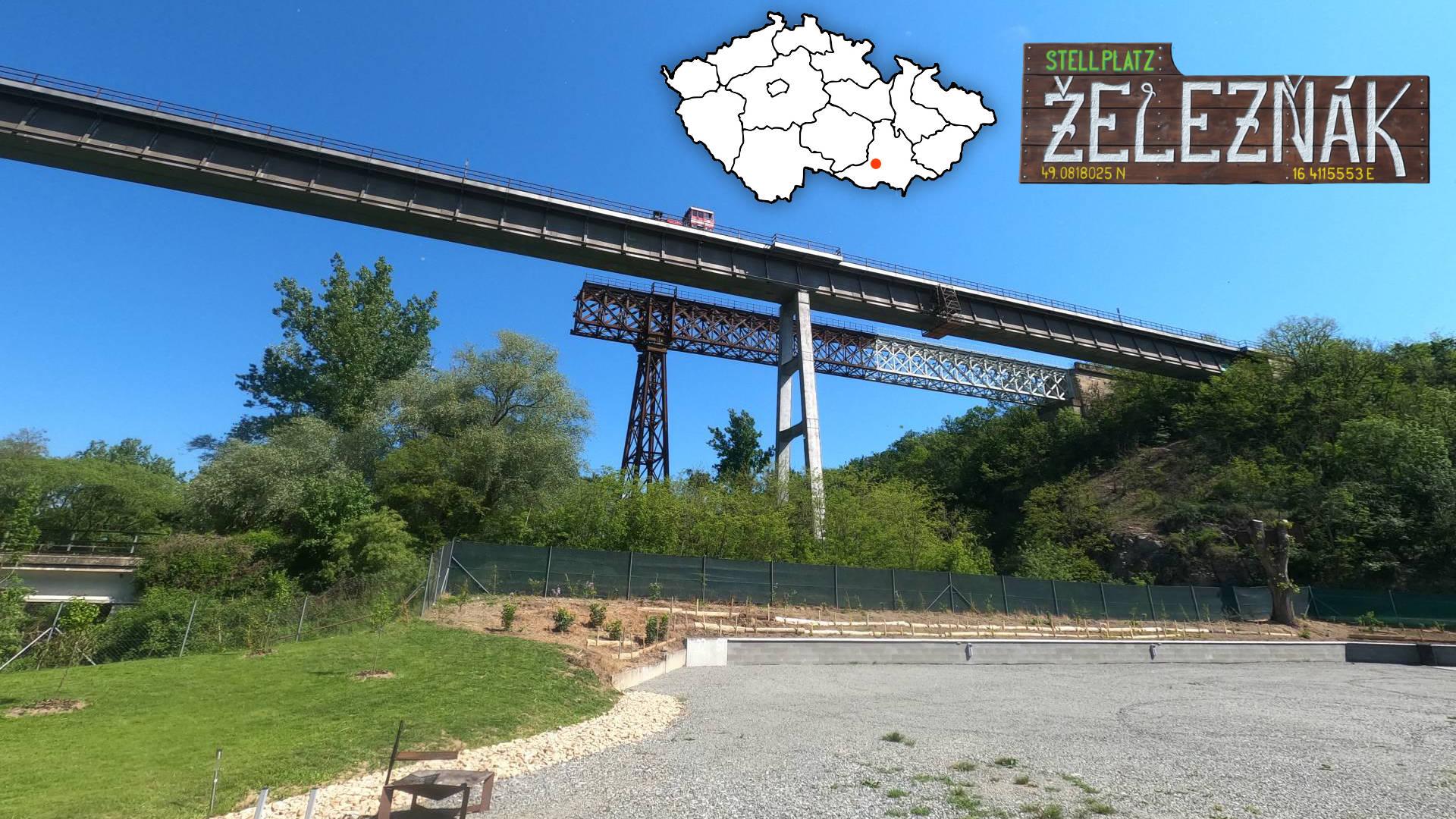 Stellplatz Železňák - karavanové stání pod Ivančickým viaduktem